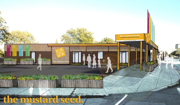 Architect's rendering of The Mustard Seed at 460 York Blvd - courtesy of Invizij Architects.
