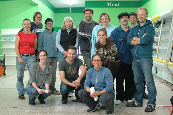 Group shot at the end of one of our recent Saturday work bees at the soon-to-b e Mustard Seed store.