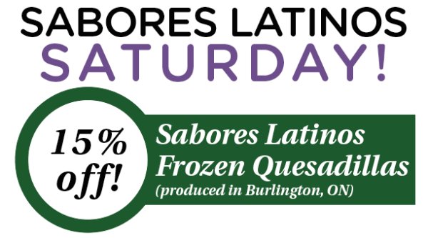 FOR EMAIL Sabores Latinos Saturday